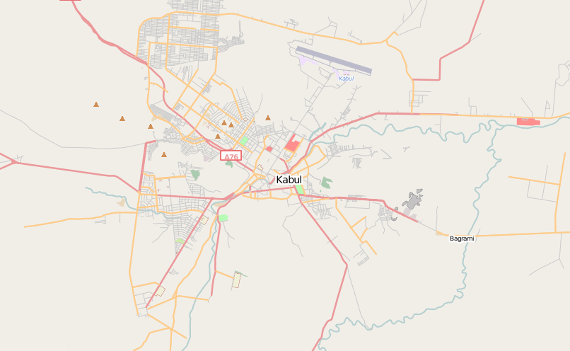 More Open Street Map vs Google Maps Kabul and Tbilisi